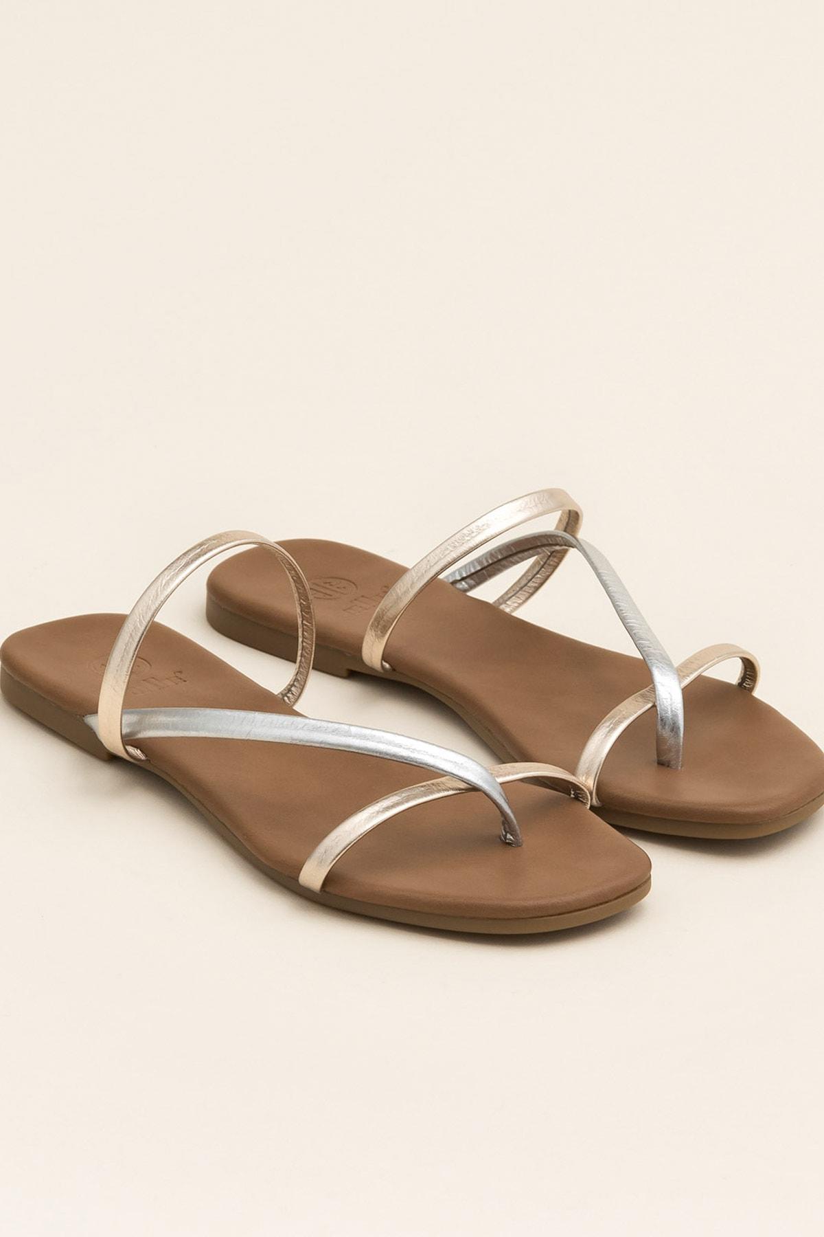 Elle Shoes KELLEY Metalık Multi Kadın  20YLT476004 2