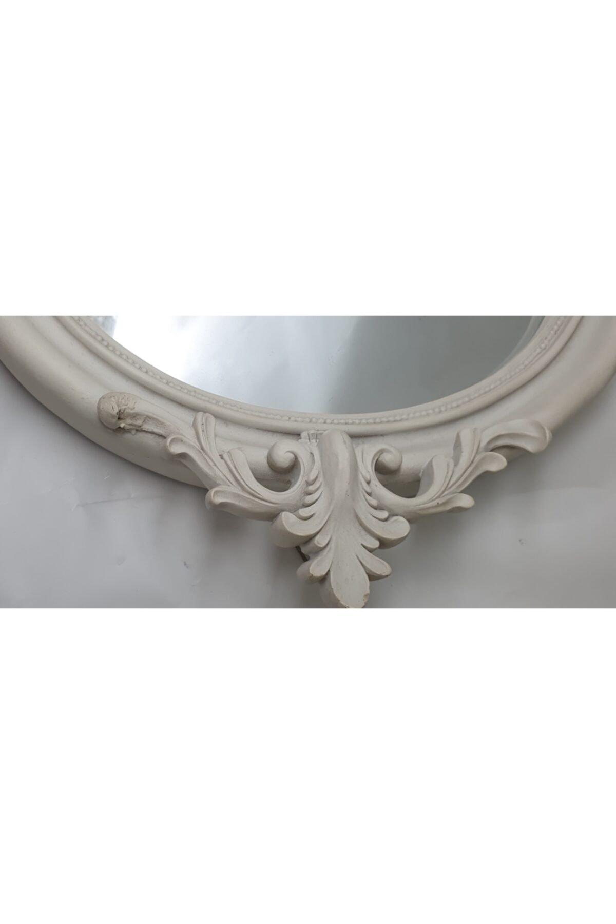 Lucky Art Beyaz Ahşap Ayna 2