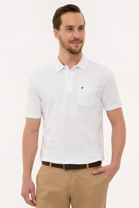 Pierre Cardin Erkek Beyaz Regular Fit Polo Yaka T-Shirt