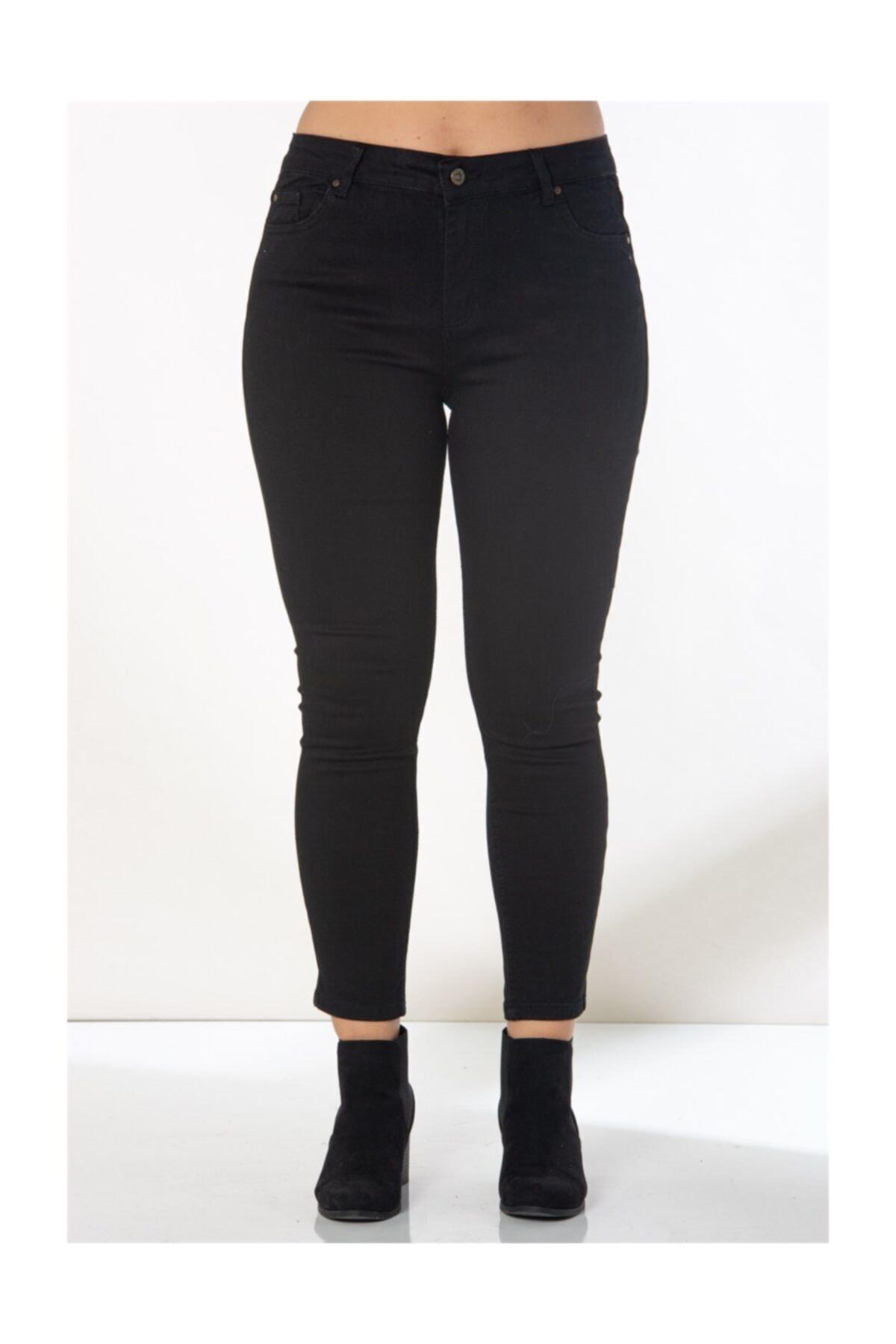 RMG Kadın Siyah Kot Pantolon 1465 1