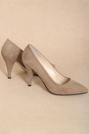 CZ London Hakiki Deri Kadın Topuklu Ayakkabı Bayan Stiletto Ped Destekli