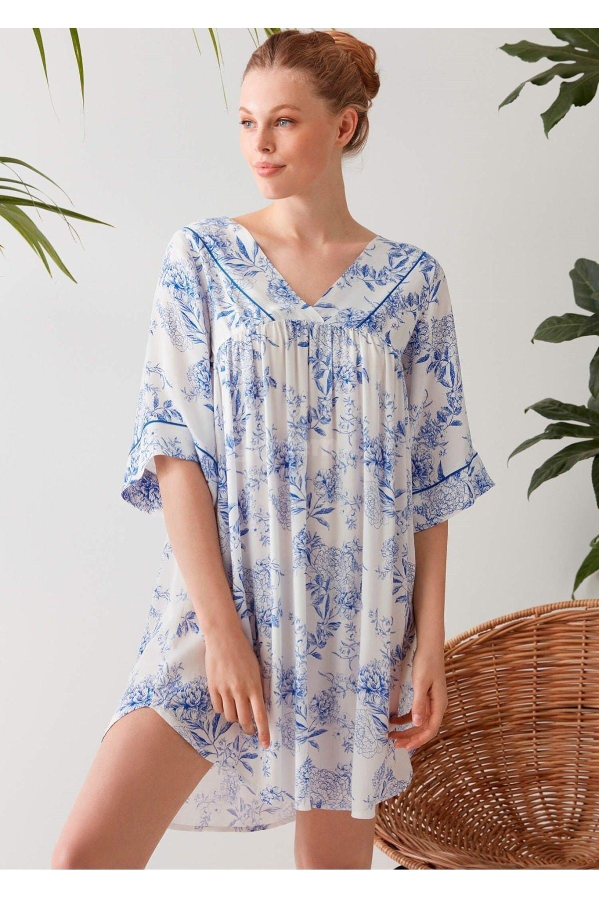 Penyemood Kadın Mavi Elbise 1