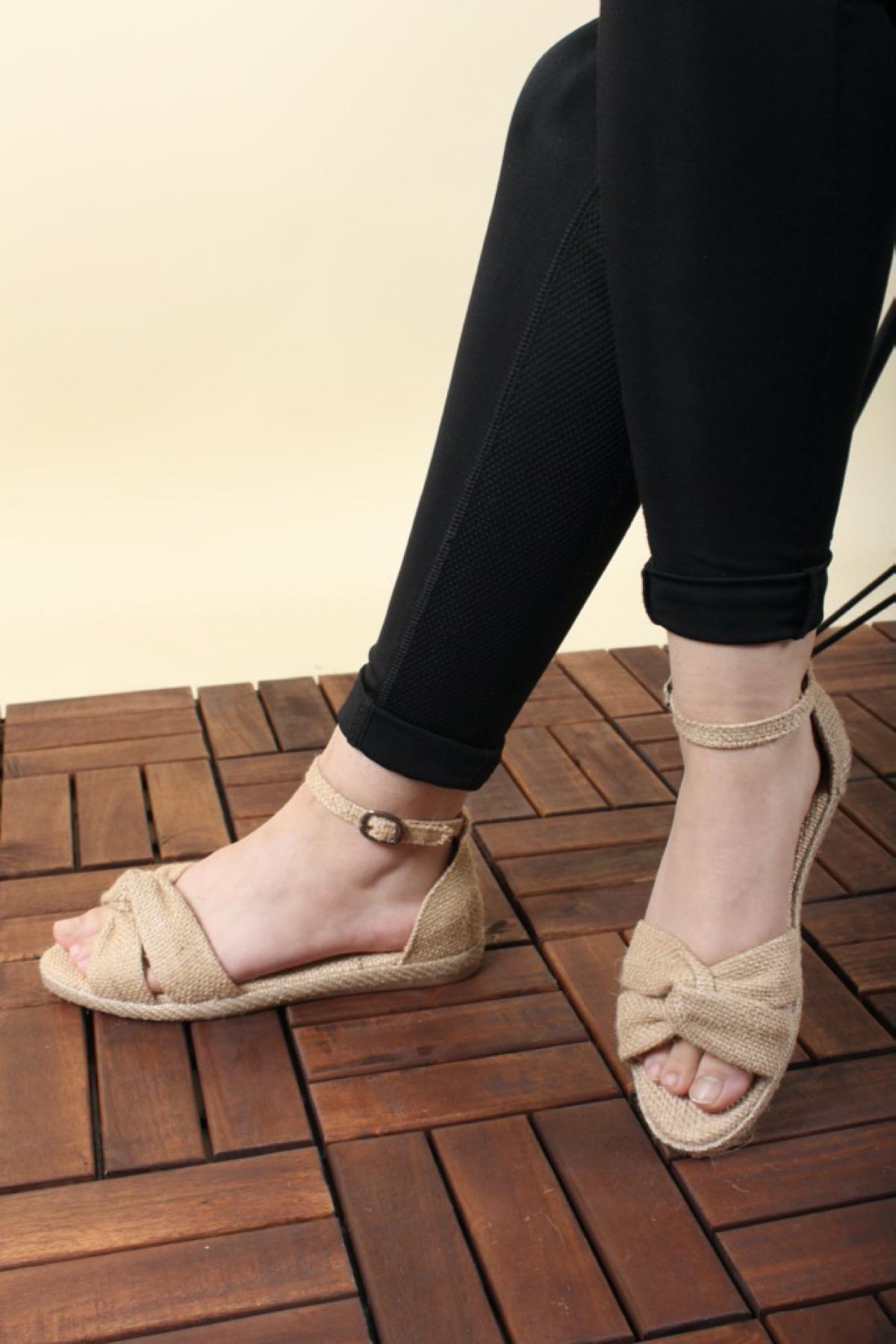 Oksit Florin 562 Hasır Kadın Sandalet