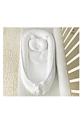 Jaju Baby Beyaz Tasarım Lüx Ortopedik Babynest