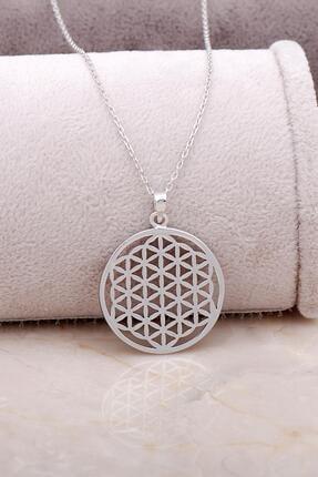 Sümer Telkari Yaşam Çiçeği Gümüş Tasarım Kolye 6847