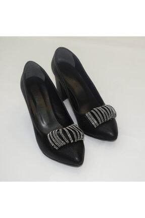 PUNTO 595371 Siyah Topuklu Ayakkabı