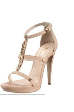 Liu Jo Kadın Bej Topuklu Ayakkabı  S12153 Lıu Jo Sandalo Anbar C/catena T120