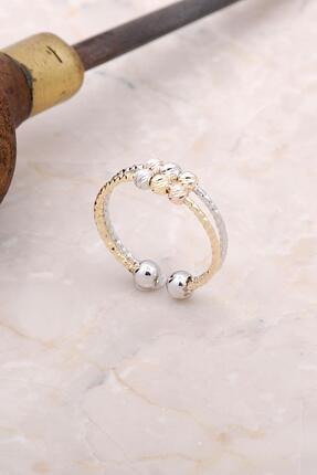 Sümer Telkari Kadın Beyaz Dorica Renkli Gümüş Yüzük 3006
