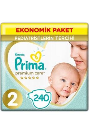 Prima 2 Beden Yenidoğan Premium Care Bebek Bezi (4*60) 240 Adet