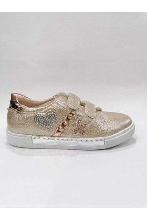 Sanbe Kız Çocuk Ortopedik Cırtlı Dore Ayakkabı