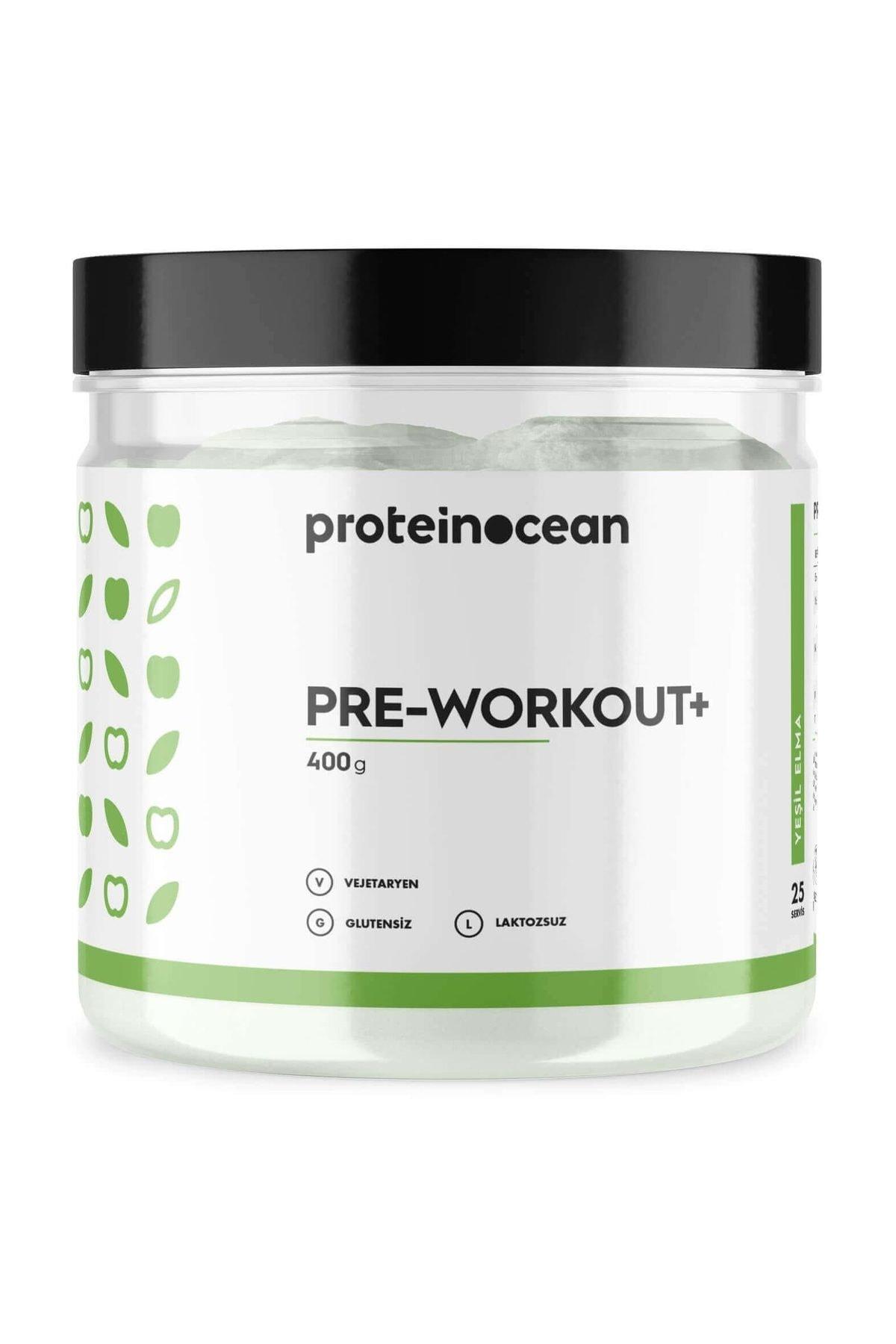 PROTEİNOCEAN Pre-workout+™ Yeşil Elma 400g - 25 Servis 1