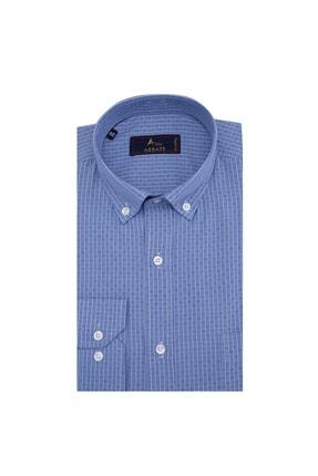 Abbate Erkek Orta-Mavi Uzun Kollu Gömlek - 1Gm91Uk1262R 568