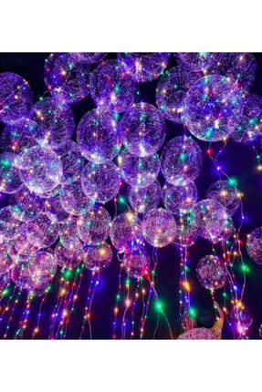 Skygo Led Işıklı Helyum Uçan Şeffaf Balon