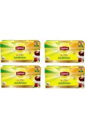 Lipton Altın Harman Demlik Poşet Çay 100'lü 4 Paket