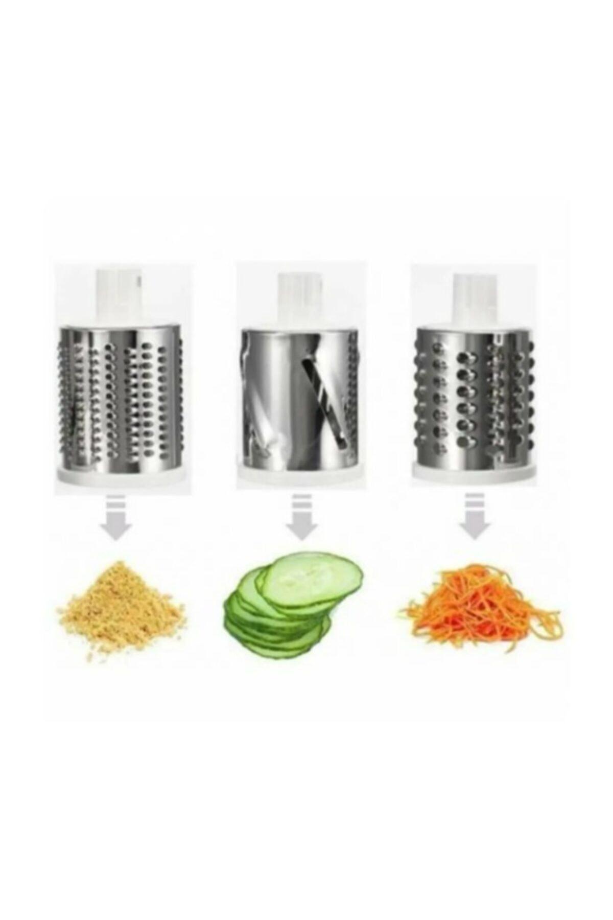 AYAZ TAKI Çevirme Kollu Sebze Doğrayıcı Rende Vegetable Slicer Sebze Dilimleyici 2
