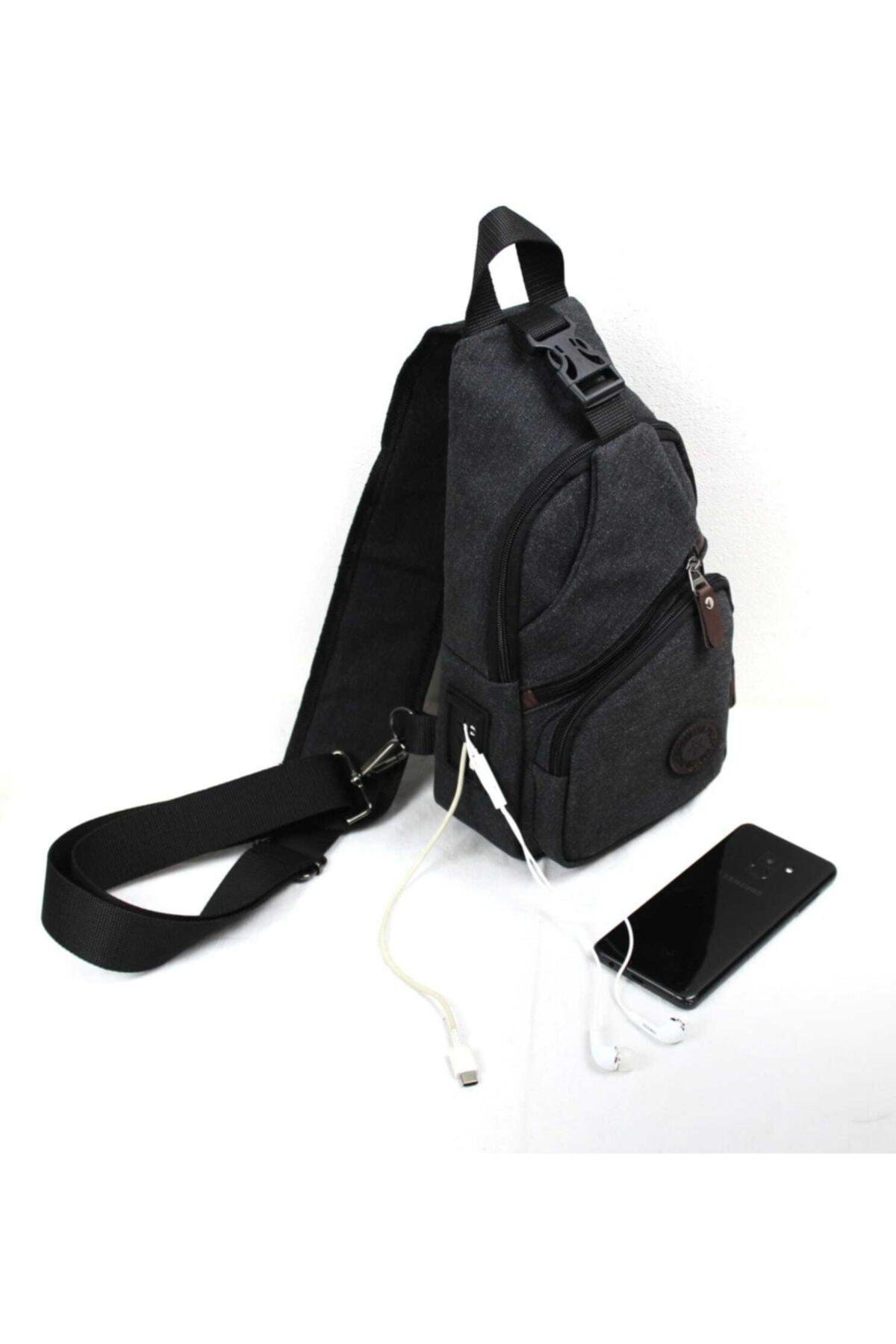 Newish Polo Kanvas Usb Çıkışlı Cross Bodybag 1