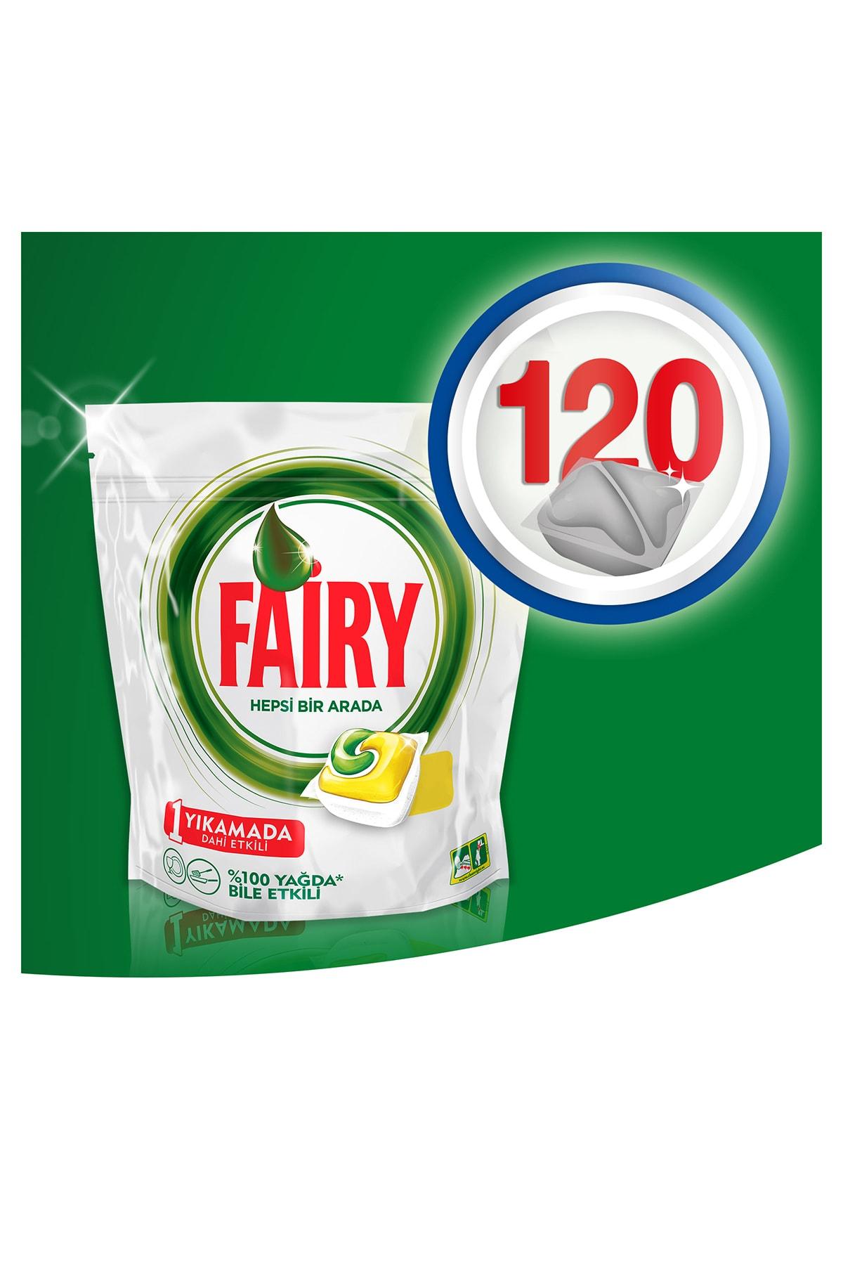 Fairy Hepsi Bir Arada 120 Yıkama Bulaşık Makinesi Kapsülü Limon + Old Spice Duş Jeli&Şampuan 50ml 2