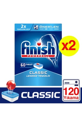Finish Klasik 120'li Tablet Bulaşık Makinesi Deterjanı