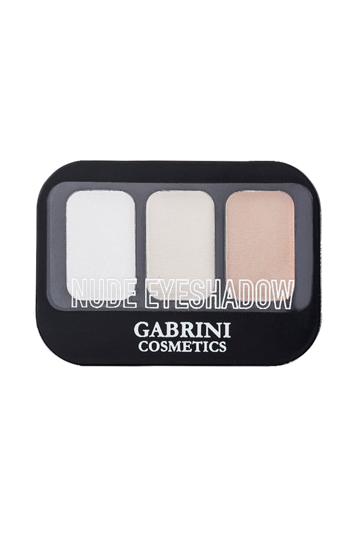 Gabrini 3'lü Nude Göz Farı - Nude Eyeshadow 101 8696814078216 2