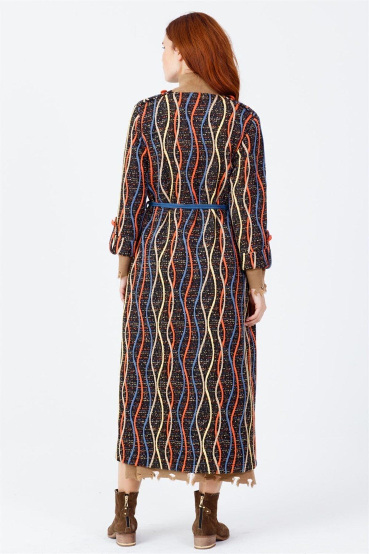 Ghisa Kadın Renkli Desenli Ceket Orıgınal 2