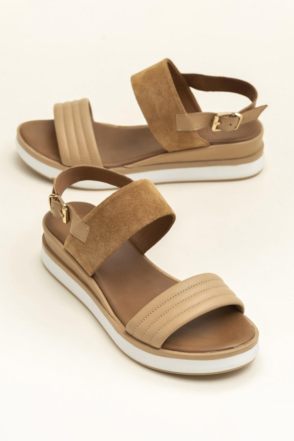 Elle Shoes SUNNIVA Naturel Süet Kadın  20YLT113026 1