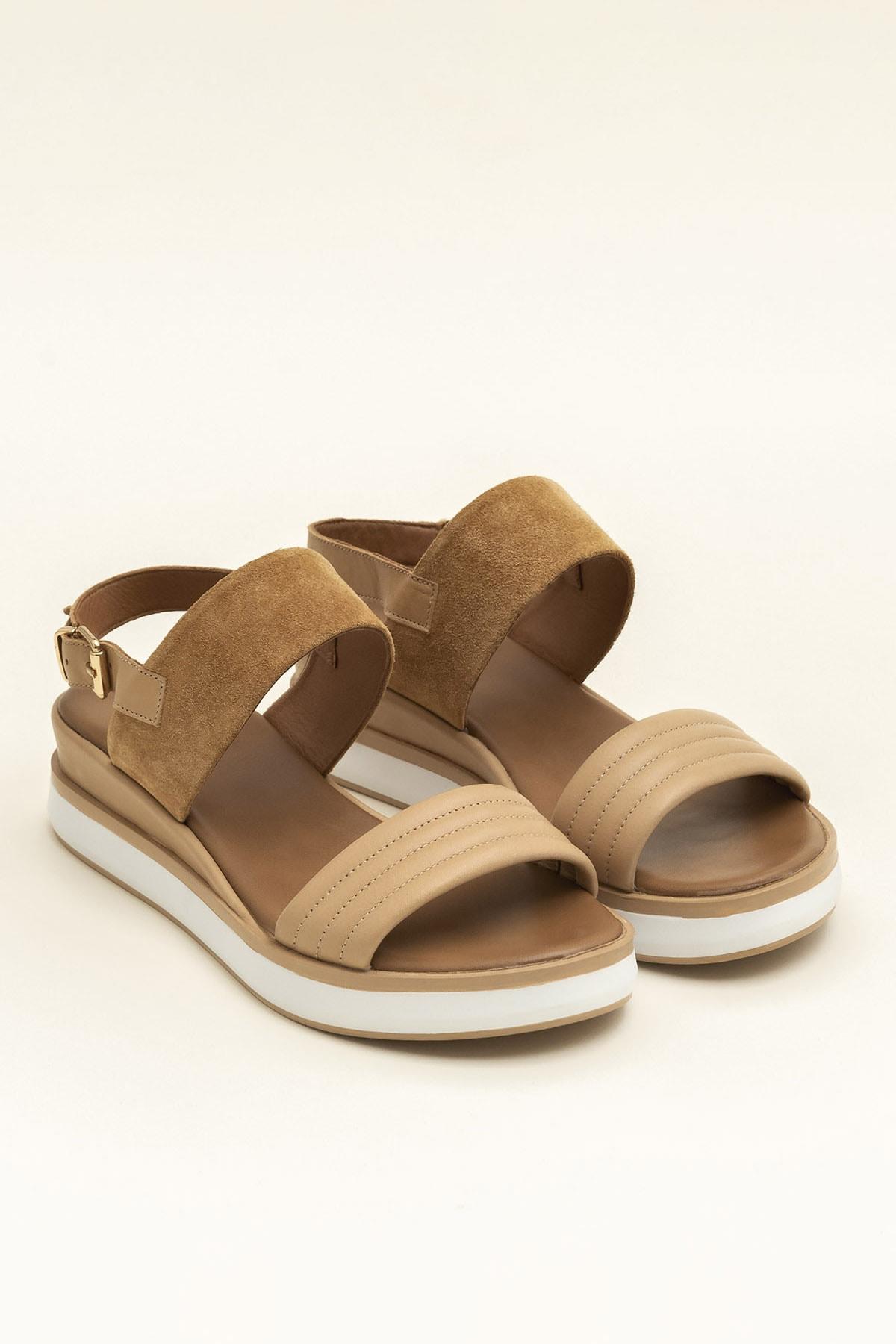 Elle Shoes SUNNIVA Naturel Süet Kadın  20YLT113026 2