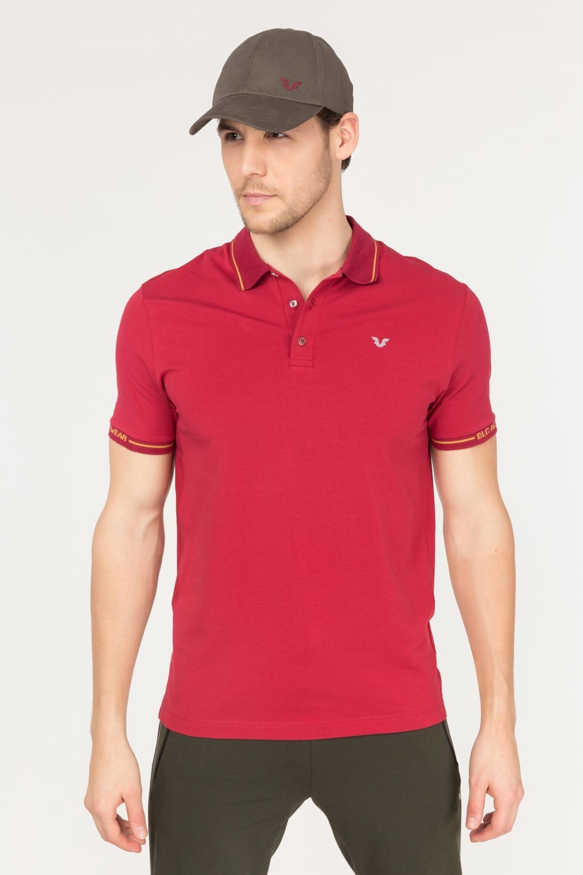 bilcee Bordo Polo Yaka Pamuklu Erkek T-Shirt FS-1759 2