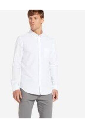 WRANGLER Erkek Beyaz Gömlek Button Down