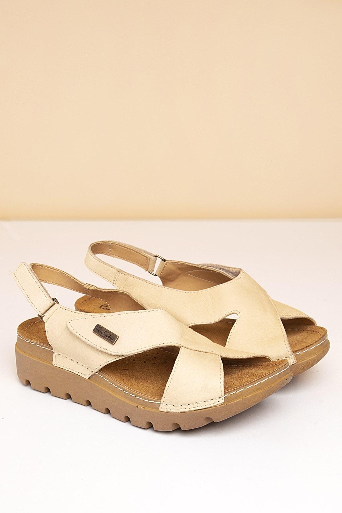 Pierre Cardin PC-1378 Bej Kadın Sandalet 1