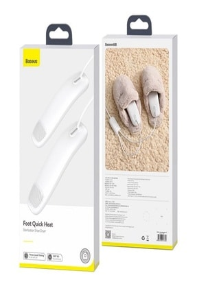 Baseus Foot Quick Heatı Ayakkabı Isıtıcı Beyaz Koku Kurutma Ve Nem Giderici  31439