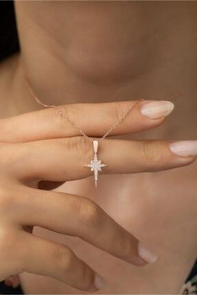 Nereze 925 Ayar Gümüş Minik Kutup Yıldızı Kolye Kadın Gümüş Kolye