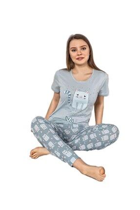 walkie Simba Mavi Kadın Pijama Takımı
