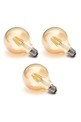 Heka G95 6w Gold Cam 2700 K Gün Işığı Gerçek Rustik Ampul E27 Duy 3lü Paket