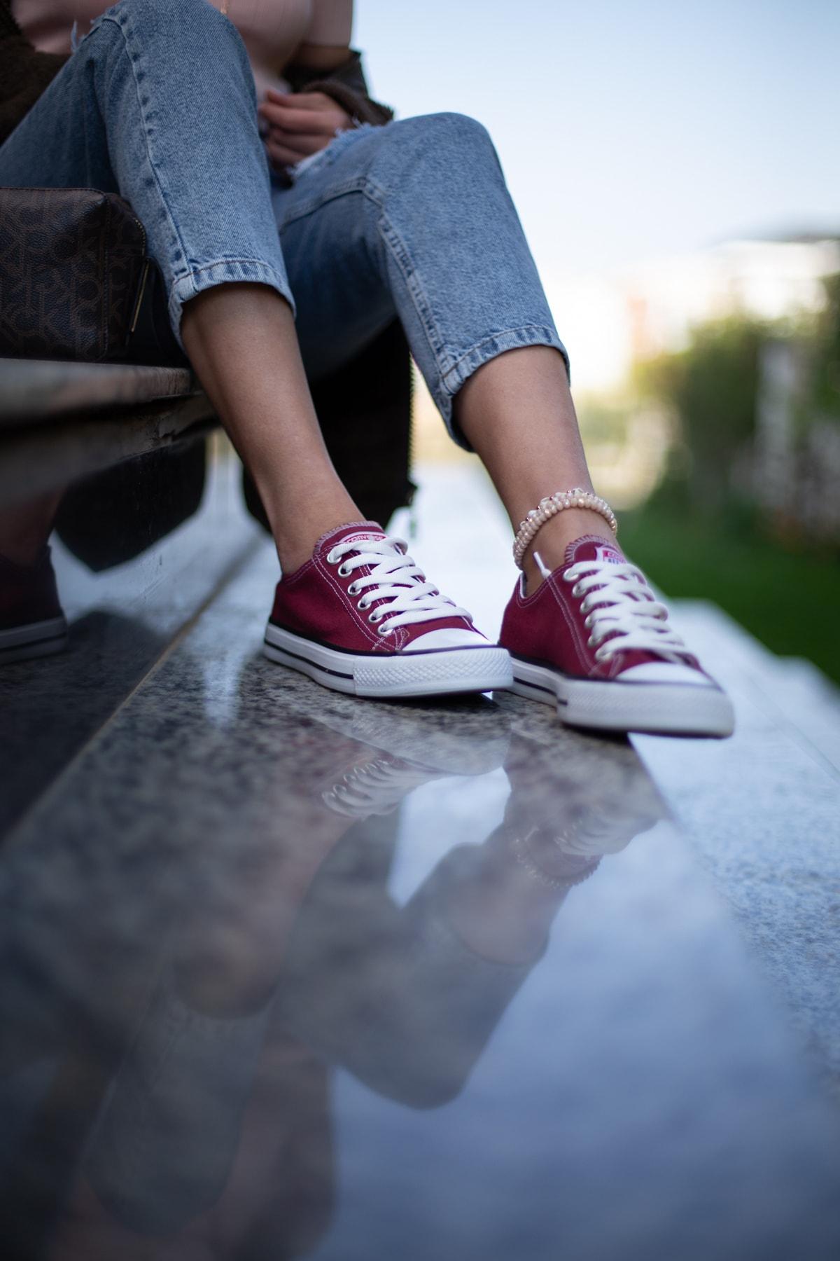 ESPARDİLE Bordo Kadın Spor Ayakkabı 1