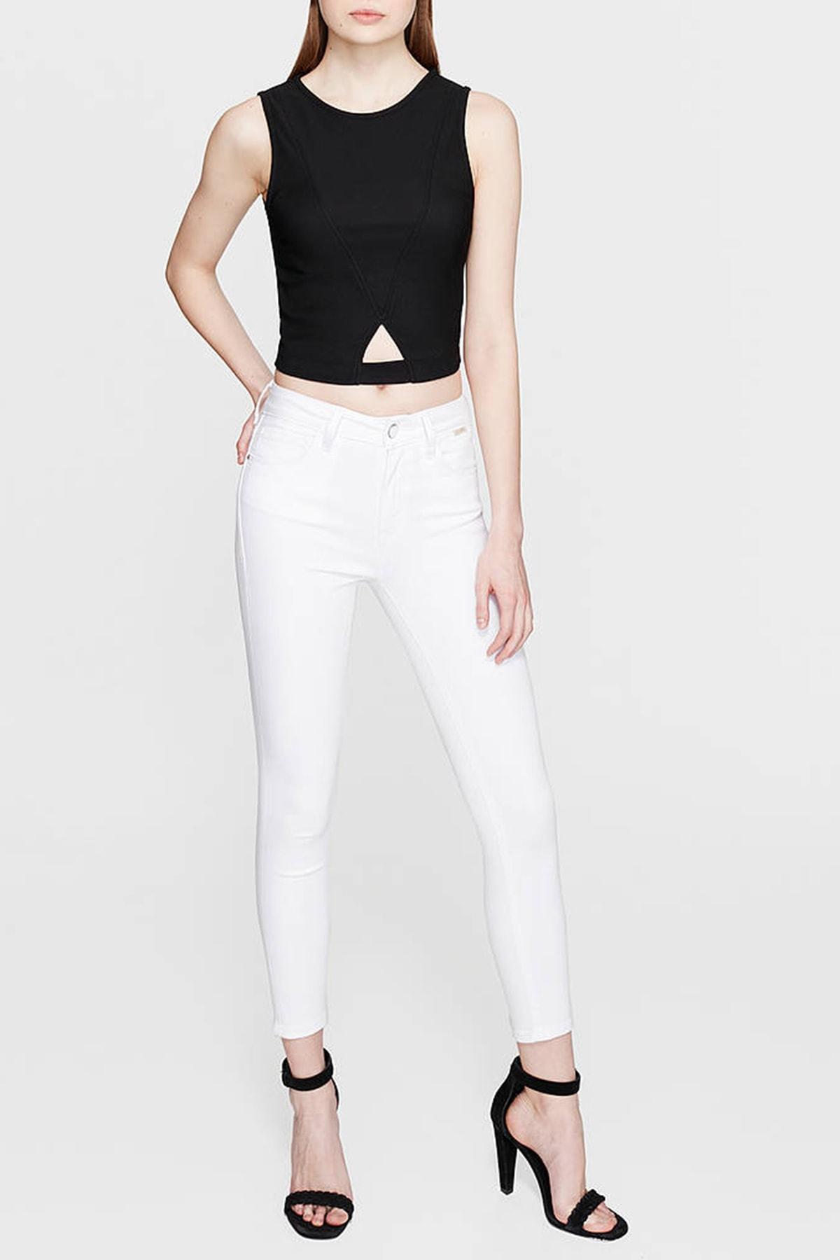 Mavi Kadın Tess Gold Beyaz Jean 100328-28143 1
