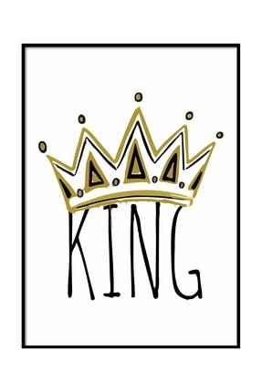 Beril Yamaç Design Studio King Tipografik Siyah Beyaz Poster