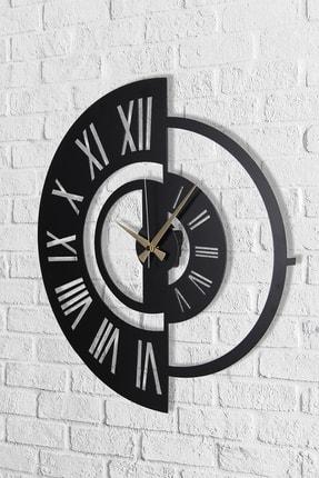 Muyika Design Muyika Ruota Metal Siyah Duvar Saati 50x50 cm