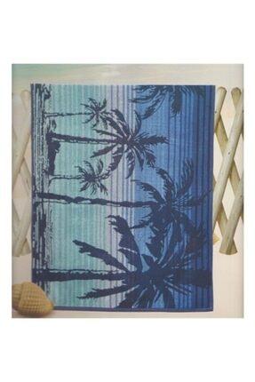 Özdilek Nice Palm Beach Mavi Plaj Havlusu
