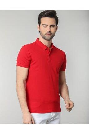 Tudors Erkek Kırmızı Polo Yaka Düz Erkek T-shirt
