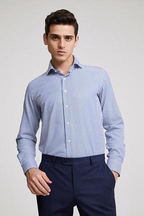 D'S Damat Erkek Slim Fit Gömlek Lacivert 4HF02ORT08185_101