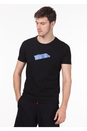 Ramsey Erkek Siyah Baskılı Örme T - Shirt RP10119998