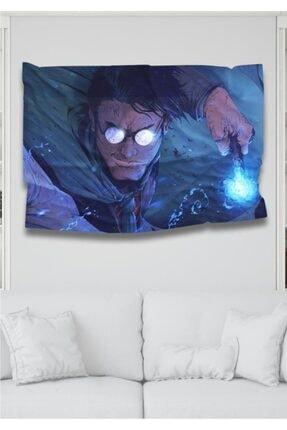 Hediyeler Kapında 110 X 150 Harry Potter Ve Asası Dekoratif Duvar Örtüsü