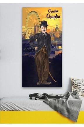 Hediyeler Kapında 110 X 150 Charlie Chaplin And City Dekoratif Duvar Örtüsü