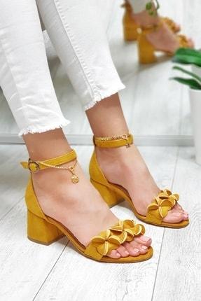 Metin Taka Flower Sarı Renk Bilekten Tek Bantlı Ayakkabı