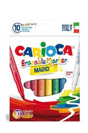 CARIOCA Silinebilir Sihirli Keçeli Kalemler (9 Renk + 1 Düzeltici Beyaz Kalem) /