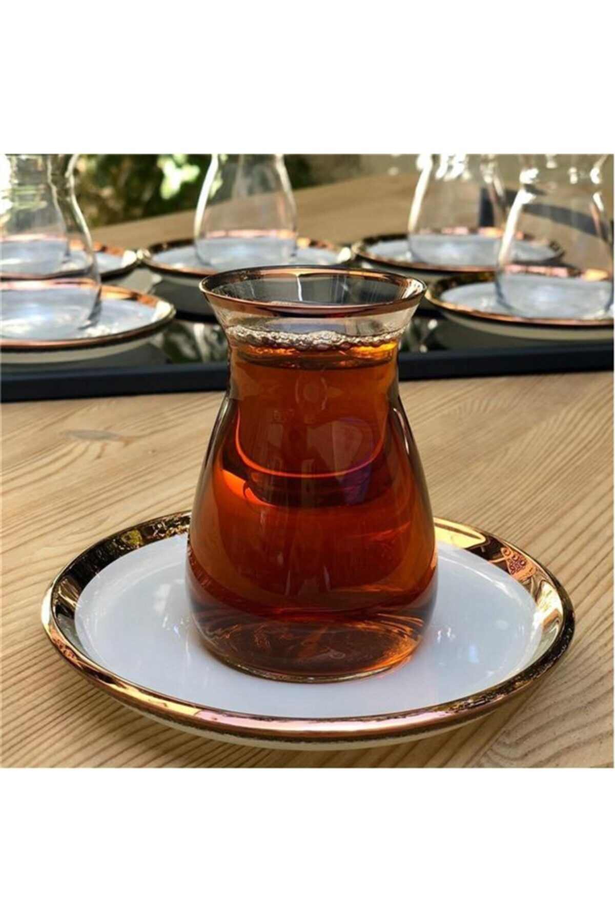 Glore Nıhavent Camillow Krem Rose Gold 6'lı Çay Seti 2