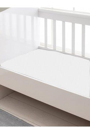SEDEF HOME Beyaz Bebek Penye Lastikli Çarşafı 70x140cm