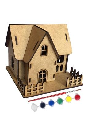 Tahtakurusu Tasarım Köşk Ev Ahşap Boyama Etkinlik Seti Orjinal Ürün