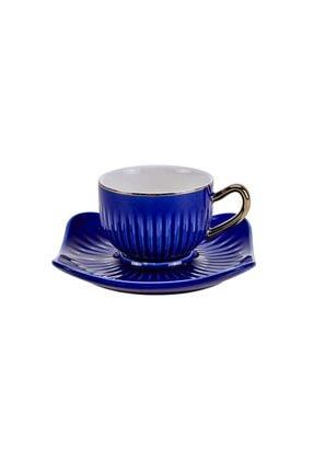 Emsan Mavi Nasip 6 Kişilik Kahve Fincan Takımı