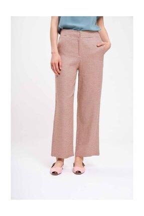 Mizalle Kazayağı Desenli Pantolon